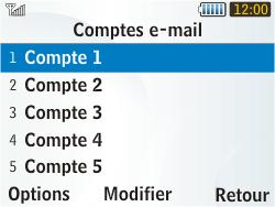 Samsung S3350 Chat 335 - E-mail - Configuration manuelle - Étape 9