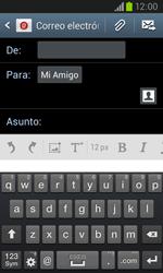 Samsung i8260 Galaxy Core - E-mail - Escribir y enviar un correo electrónico - Paso 8