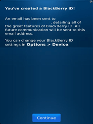 BlackBerry 9810 Torch - BlackBerry activation - BlackBerry ID activation - Step 11