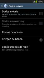 Samsung I9500 Galaxy S IV - Rede móvel - Como ativar e desativar uma rede de dados - Etapa 8