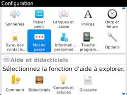 BlackBerry 9720 - Sécuriser votre mobile - Activer le code de verrouillage - Étape 4