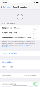 Apple iPhone X - Segurança - Como ativar o código de bloqueio do ecrã -  4