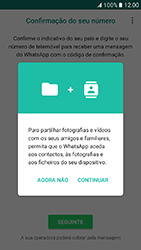 Samsung Galaxy A3 (2017) - Aplicações - Como configurar o WhatsApp -  6