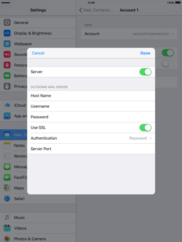 Apple iPad Mini 3 iOS 9 - Email - Manual configuration - Step 20