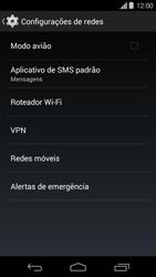 Motorola Moto G - Rede móvel - Como ativar e desativar uma rede de dados - Etapa 5