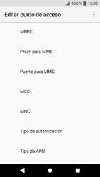 Sony Xperia XZ1 - Mensajería - Configurar el equipo para mensajes multimedia - Paso 12