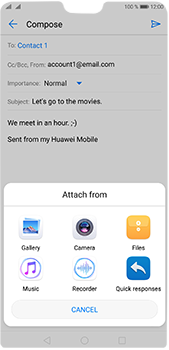 Huawei P20 Pro - Email - Sending an email message - Step 10