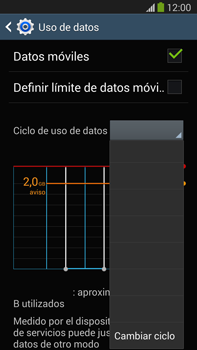 Samsung Galaxy Note 3 - Internet - Ver uso de datos - Paso 6