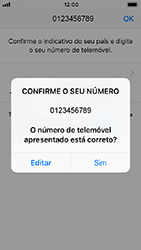 Apple iPhone SE - iOS 12 - Aplicações - Como configurar o WhatsApp -  10