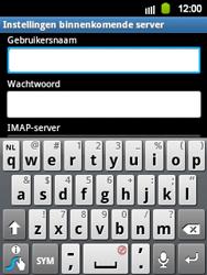 Samsung S5360 Galaxy Y - E-mail - e-mail instellen: IMAP (aanbevolen) - Stap 8
