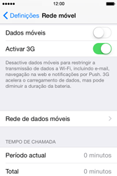Apple iPhone 4S iOS 8 - Internet no telemóvel - Como ativar os dados móveis -  4