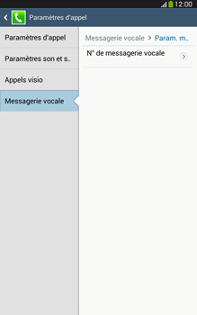 Samsung T315 Galaxy Tab 3 8-0 LTE - Messagerie vocale - configuration manuelle - Étape 9