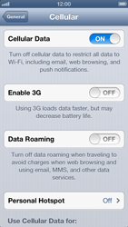 Apple iPhone 5 - Network - Change networkmode - Step 7