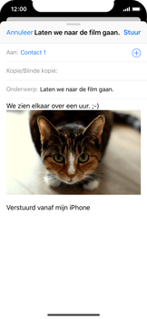 Apple iPhone X - E-mail - Bericht met attachment versturen - Stap 14