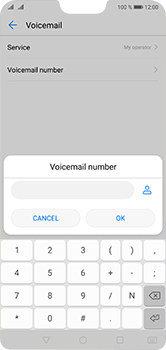 Huawei P20 Lite - Voicemail - Manual configuration - Step 8