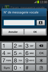 Samsung S6310 Galaxy Young - Messagerie vocale - configuration manuelle - Étape 9