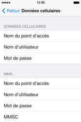 Apple iPhone 4 S iOS 7 - Internet - Configuration manuelle - Étape 6