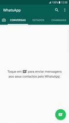Samsung Galaxy S6 Edge - Android Nougat - Aplicações - Como configurar o WhatsApp -  15