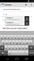 Acer Liquid Jade Z - E-mail - Hoe te versturen - Stap 6