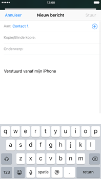 Apple iPhone 6s Plus iOS 10 - E-mail - hoe te versturen - Stap 6