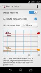 Sony D2203 Xperia E3 - Internet - Ver uso de datos - Paso 11