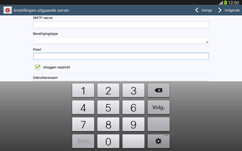 Samsung P5220 Galaxy Tab 3 10-1 LTE - E-mail - e-mail instellen: IMAP (aanbevolen) - Stap 13