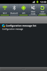 Samsung S7500 Galaxy Ace Plus - MMS - Automatic configuration - Step 4