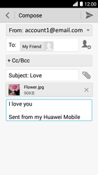 Huawei Ascend Y530 - E-mail - Sending emails - Step 13