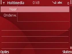Nokia E63 - MMS - Afbeeldingen verzenden - Stap 5