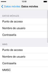 Apple iPhone 4S iOS 7 - Internet - Configurar Internet - Paso 6