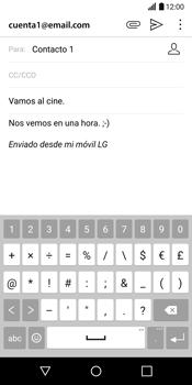 LG G6 - E-mail - Escribir y enviar un correo electrónico - Paso 11