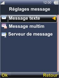 Sonim XP3300 Force - SMS - Configuration manuelle - Étape 5