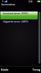Sony Ericsson U1i Satio - E-mail - Handmatig instellen - Stap 13
