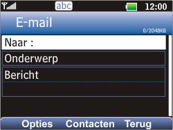 LG C360 Golf - E-mail - E-mails verzenden - Stap 5