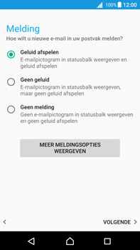 Sony Xperia Z5 Premium - Android Nougat - E-mail - e-mail instellen: IMAP (aanbevolen) - Stap 20