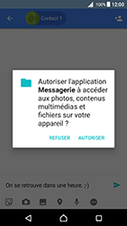 Sony Xperia X - Android Nougat - Mms - Envoi d