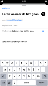 Apple iPhone 7 Plus - iOS 13 - E-mail - e-mail versturen - Stap 6