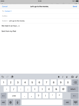 Apple iPad Pro (9.7) - Email - Sending an email message - Step 8