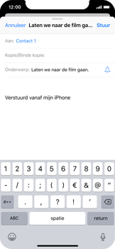 Apple iPhone X - iOS 12 - E-mail - e-mail versturen - Stap 6