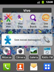 Samsung Galaxy Y - Mensagens - Como acessar e abrir mensagens multimídia (MMS) no celular - Etapa 1