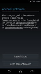 Sony Xperia Z3 4G (D6603) - Applicaties - Account aanmaken - Stap 14