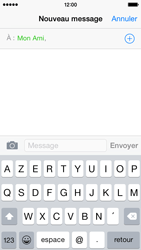 Apple iPhone 5s (iOS 8) - Contact, Appels, SMS/MMS - Envoyer un SMS - Étape 7