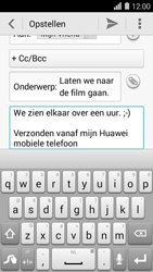 Huawei Ascend Y550 - E-mail - E-mails verzenden - Stap 10
