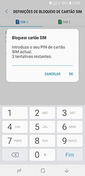 Samsung Galaxy A8 (2018) - Segurança - Como ativar o código PIN do cartão de telemóvel -  9