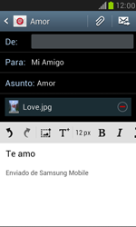 Samsung Galaxy S3 Mini - E-mail - Escribir y enviar un correo electrónico - Paso 15
