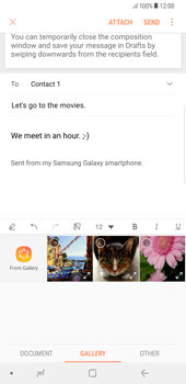 Samsung Galaxy S8 Plus - Android Oreo - E-mail - Sending emails - Step 13