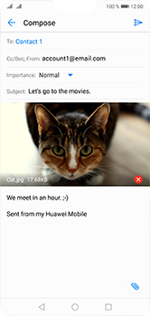 Huawei P20 Lite - Email - Sending an email message - Step 15