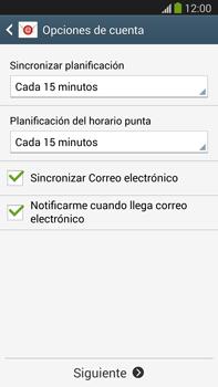 Samsung Galaxy Note 3 - E-mail - Configurar correo electrónico - Paso 17