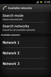 Sony ST23i Xperia Miro - Network - Usage across the border - Step 8