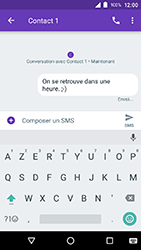 Crosscall Action X3 - Contact, Appels, SMS/MMS - Envoyer un SMS - Étape 9